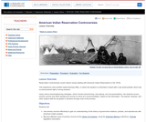 American Indian Reservation Controversies: Then and Now