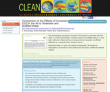 Comparison of the Effects of Increased CO2 in the Air to Seawater and Distilled Water
