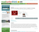 Looking for the History in Historical Fiction: An Epidemic for Reading