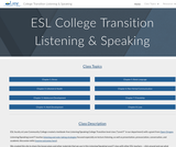 ESL College Transition: Listening & Speaking