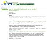 String Scientific Notation/Metric System Demonstration
