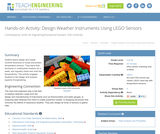 Design Weather Instruments Using LEGO Sensors