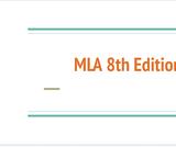 MLA 8th Edition
