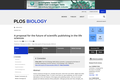 A proposal for the future of scientific publishing in the life sciences
