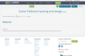 Guitar fretboard spacing and design