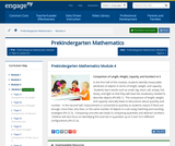 Prekindergarten Mathematics Module 4: Comparison of Length, Weight, Capacity, and Numbers to 5