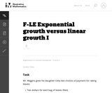 Exponential Growth Versus Linear Growth I