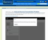 Cola and Sucrose Concentration Problem