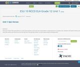 ESU 10 RCCD ELA Grade 12 Unit 1