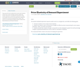 Price Elasticity of Demand Experiment