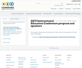 AJCU International Education Conference program and speakers