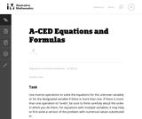 Equations and Formulas