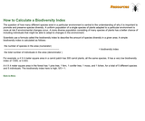 How to Calculate a Biodiversity Index