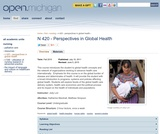 Perspectives in Global Health