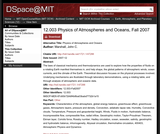 Physics of Atmospheres and Oceans, Fall 2007