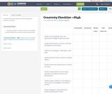Creativity Checklist —High