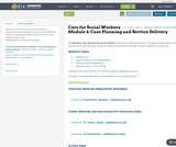 Core for Social Workers Module 6: Case Planning and Service Delivery