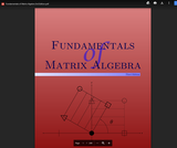 Fundamentals of Matrix Algebra