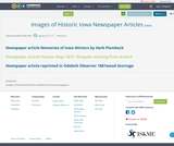 Images of Historic Iowa Newspaper Articles