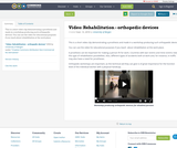 Video: Rehabilitation - orthopedic devices