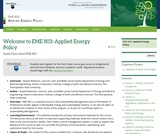 Applied Energy Policy