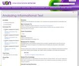 Analyzing Informational Text