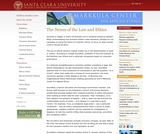 Nexus of the Law and Ethics