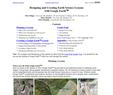 Designing and Creating Earth Science Lessons with Google Earth‰ă˘