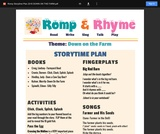 Romp & Rhyme Storytime Lesson Plan: Down on the Farm