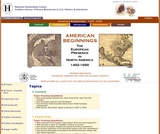 American Beginnings, The European Presence in North America 1492 - 1600: Primary Sources