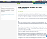 Essay: The future of corporate governance