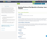 Reading Technical Text Specific to Farming - Loan Context