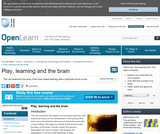 Play, Learning and the Brain