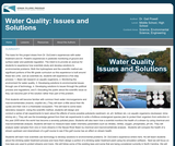 Water Quality: Issues and Solutions