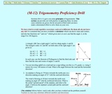 From Stargazers to Starships: Trigonometry Proficiency Drill