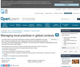 Managing Local Practices in Global Contexts