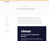 Teach Design: Yes, And! Party Planning