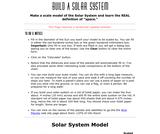 Build a Solar System