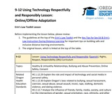 9-12 Using Technology Respectfully and Responsibly Lesson (Online/Offline Adaptation)