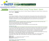 Investigating What Living Things Need: Space