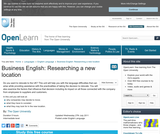 Business English: Researching a New Location