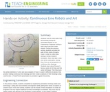 Continuous Line Robots and Art
