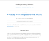 The Programming Historian 2: Counting Frequencies