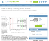 Seismology in the Classroom