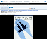 WPA Posters: A Road to Future Success - Learning Free : Enroll - Federal Adult Schools : Many Courses - Many Places - Informal Teaching.