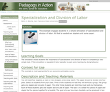 Specialization and Division of Labor