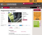 Programming Languages, Fall 2002