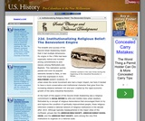 22d. Institutionalizing Religious Belief: The Benevolent Empire