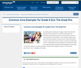 Close Reading Exemplar: The Great Fire (Grade 6)
