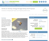 Energy Storage Derby and Proposal
